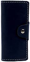 Мужская надежная кожаная ключница на кнопке BLACK BRIER (БЛЭК БРАЕР) КЛ-1-97 темно-синий