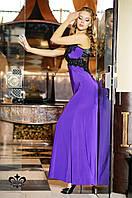 """Вечернее платье """"Кассандра""""- лиловый (без шлейфа) 44-46"""