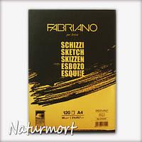 Альбом склейка для эскизов,  графики и каллиграфии Schizzi Sketch А4 (21х29,7см), 90г/м2, 120л., Fabriano