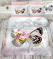 Комплект постельного белья евро  3D  сатин Gokay Fly с бабочкой