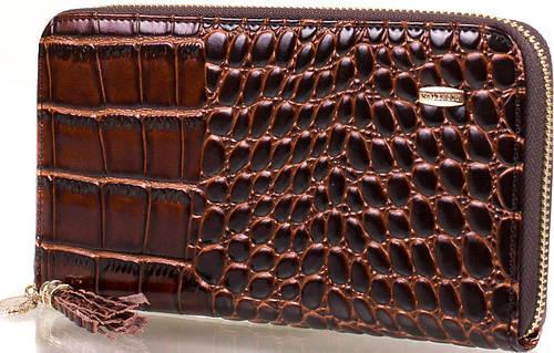 Стильный женский кожаный кошелек  VALENSIY (ВАЛЕНСИ) DSA01324160-deep-coffee (коричневый)