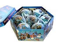 """Набор пластиковых шаров в подарочной упаковке """"Упряжка Деда Мороза"""" 7 шт."""