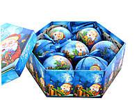 """Набор матовых шаров в подарочной упаковке """"Дед Мороз с подарками"""" 7 шт."""