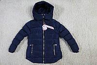 Теплая куртка для девочек/ Евро-Зима 8- 10-12-14-16 лет синяя,черная,малина