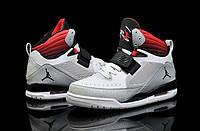 Кроссовки баскетбольные Nike Air jordan Flight 97 кожаные серо-красные Оригинал