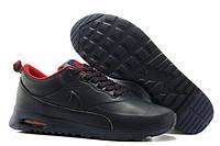 Кроссовки мужские Nike Air Max 90 Thea Leather Черно-красные Оригинальные