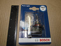 Лампа накаливания HB3 12V 60W P20d PURE LIGHT 1шт. blister (производство Bosch ), код запчасти: 1987301062
