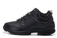 Ботинки екко биом ecco biom на меху зима черн.