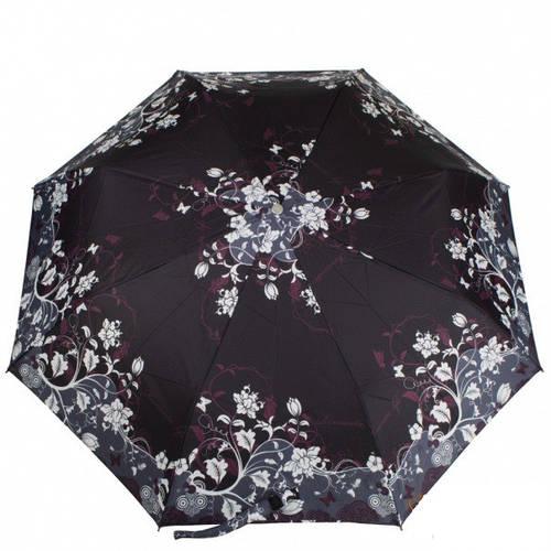 Интригующий женский зонт полуавтомат ZEST (ЗЕСТ), черный, Z23629-10