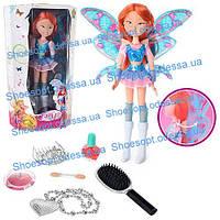 Модная кукла большая Фея Winx 3D музыкальная машет крыльями
