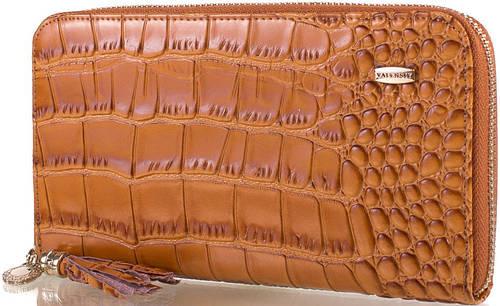 Превосходный оригинальный  женский кошелек VALENSIY (ВАЛЕНСИ) DSA01324156-yellow-brown (коричневый)