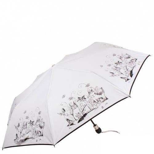 Сногсшибательный женский зонт полуавтомат ZEST (ЗЕСТ), белый, Z23629-14