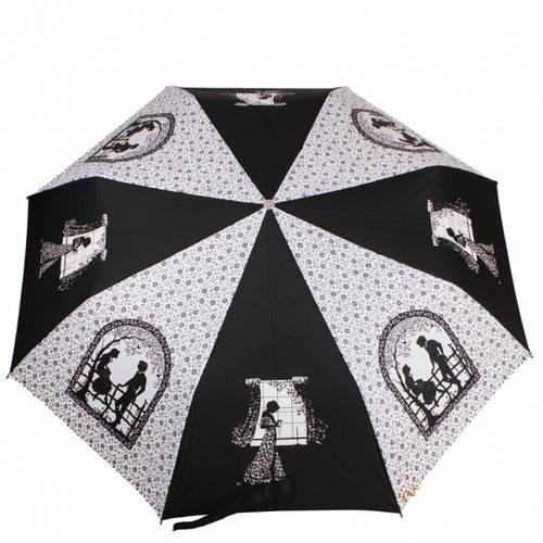 Абстрактный женский зонт полуавтомат ZEST (ЗЕСТ), белый, Z23629-15