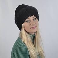 """Женская шапка из натурального меха - Кролик, рекс """"Розочка"""" (код 29-278)"""