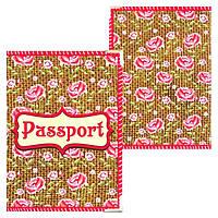 Обложка на паспорт с цветочным принтом