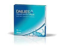 Однодневные контактные линзы Dailies AquaComfort Plus асферического дизайна 90 шт в упаковке