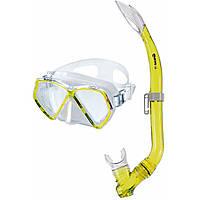 Детская маска и трубка Mares Zephir Junior; жёлтые