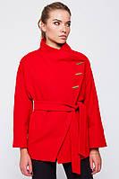 Женское короткое демисезонное пальто из кашемира