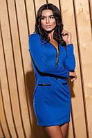 Женское платье мини синего цвета