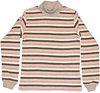 Гольф теплый в разноцветную полоску для девочки, рост 128 см, ТМ Бемби
