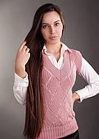 Модный женский вязаный жилет