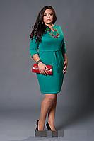 Платье женское модель №229-5, размеры  50,52,54,56,58 бирюза