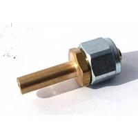 Переходник соединительный прямой+гайка+ниппель разрезной для термопласт.трубки D6, Rail