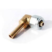 Переходник соединительный угловой+гайка+ниппель разрезной для термопласт.трубки D8, Rail