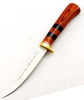 Нож филейный для разделки мяса рыбы и свинины, с кожаным чехлом