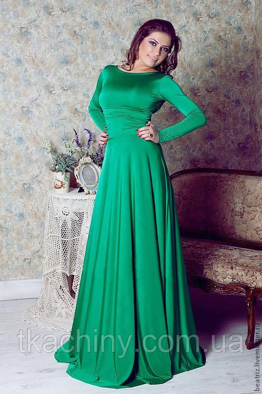 Платье с рукавами вечернее