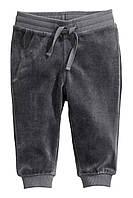 Детские велюровые штаны H&M. 6-9, 9-12, 12-18 месяцев, 1,5-2 года