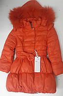 Зимнее пальто для девочек. Рост 116, 122 см.