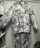 "Камуфляжный костюм Зимний ""Зимний лес"" Камуфляжная одежда Размер: 48-62. Рыбалка Одежда для отдыха Зимняя рыба"