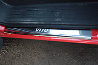 Mercedes Vito 639 Накладки на пороги (2 шт), Laser