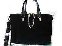 Черная замшевая сумка Voee vodd