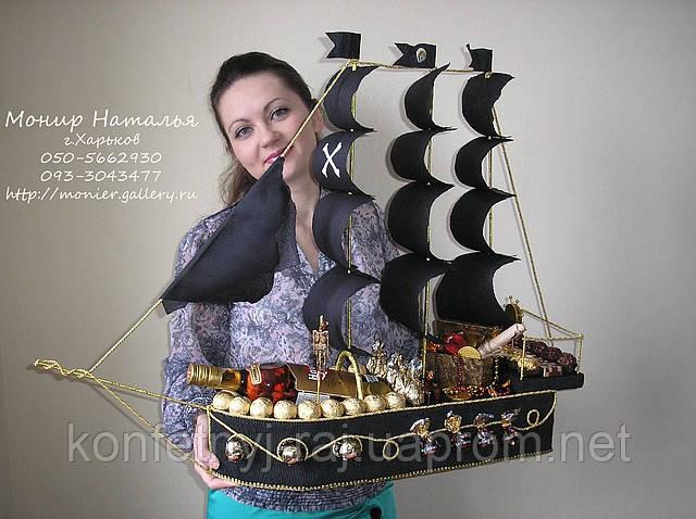 Подарочный корабль своими руками для мужчин 62
