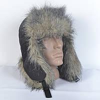 Молодежная зимняя шапка из искусственного меха