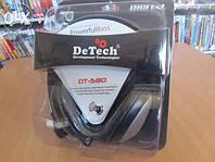 Накладные мониторные стереонаушники DeTech DT-580