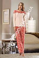 Женская пижама Shirly 5977 для кормящих мамочек, домашний костюм с брюками цена со склада