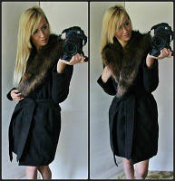 Женское кашемировое пальто с воротником
