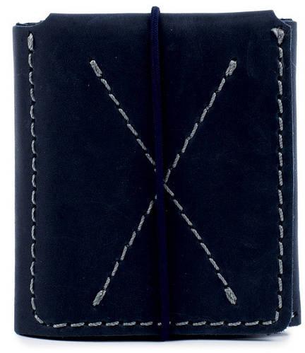 Функциональное мужское портмоне из натуральной кожи Black Brier П-3-97 темно-синий