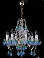 Хрустальная люстра для спальни, зала на 6 лампочек