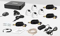 AHD Tecsar 4OUT-DOME комплект відеоспостереження