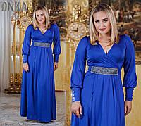 Платье вечернее длинное Со стразами на поясе