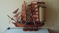 Корабль-ночник сувенирный деревянный 95*80
