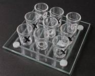 Крестики-нолики рюмками стеклянные размер 25*25