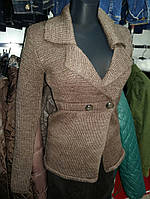 Жакет коричневый женский 30% шерсть