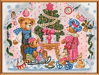 Наборы для вышивания нитками Новогодний подарок СР 1187