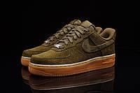Мужские кроссовки Nike Air Force 1 ´07 Suede Dark Loden Gum В НАЛИЧИИ! РАЗМЕР 41!