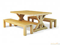 Стол обеденный Ларго из массива Дуба